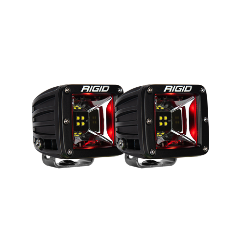 Rigid Industries Scene Red Backlight Surface Mount Pair Radiance RIGID Industries
