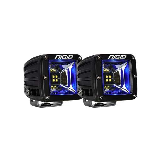 Rigid Industries Scene Blue Backlight Surface Mount Pair Radiance RIGID Industries