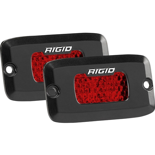 Rigid Industries Diffused Rear Facing High/Low Flush Mount Red Pair SR-M Pro RIGID Industries