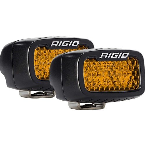 Rigid Industries Diffused Rear Facing High/Low Surface Mount Amber Pair SR-M Pro RIGID Industries