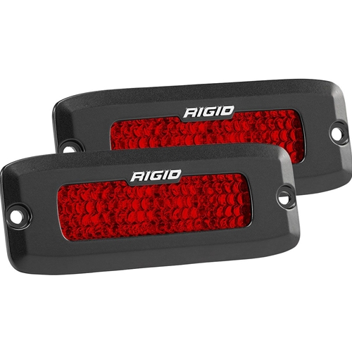 Rigid Industries Diffused Rear Facing High/Low Flush Mount Red Pair SR-Q Pro RIGID Industries