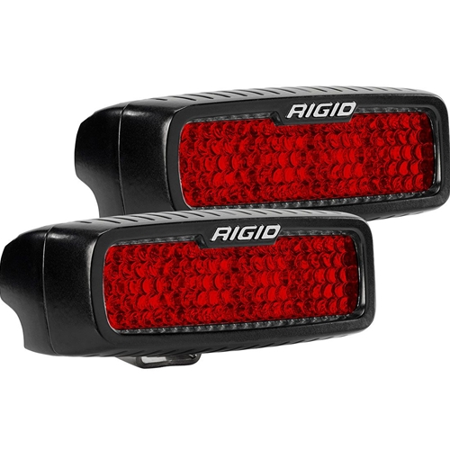 Rigid Industries Diffused Rear Facing High/Low Surface Mount Red Pair SR-Q Pro RIGID Industries