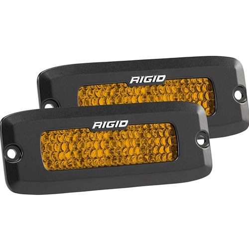 Rigid Industries Diffused Rear Facing High/Low Flush Mount Amber Pair SR-Q Pro RIGID Industries