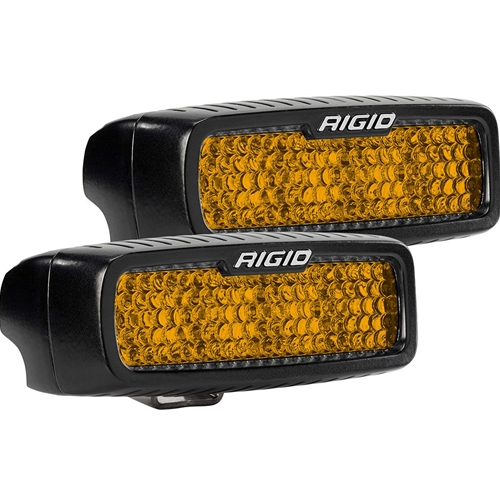 Rigid Industries Diffused Rear Facing High/Low Surface Mount Amber Pair SR-Q Pro RIGID Industries