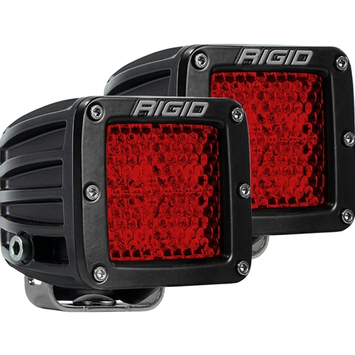 Rigid Industries Diffused Rear Facing High/Low Surface Mount Red Pair D-Series Pro RIGID Industries