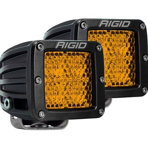 Rigid Industries Diffused Rear Facing High/Low Surface Mount Amber Pair D-Series Pro RIGID Industries