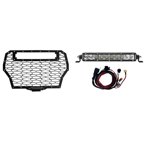 Rigid Industries 2017 Polaris RZR Turbo Grille Kit Includes One 10 Inch SR-Series Spot/Flood Combo RIGID Industries