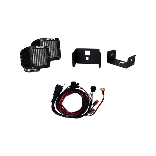 Rigid Industries 17-18 Ford Super Duty Single Fog Light Kit Includes Mounts and 2 D-Series RIGID Industries