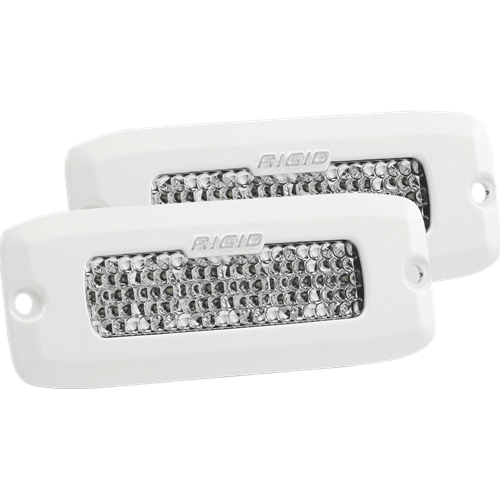 Rigid Industries Diffused Flush Mount White Housing Pair SR-Q Pro RIGID Industries