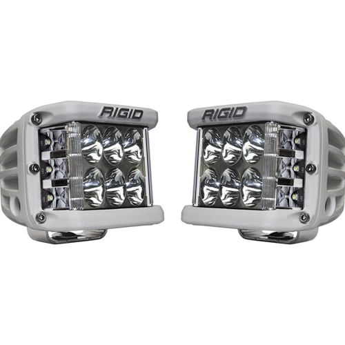 Rigid Industries Driving Surface Mount White Housing Pair D-SS Pro RIGID Industries
