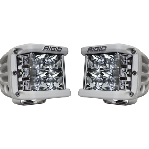 Rigid Industries Spot Surface Mount White Housing Pair D-SS Pro RIGID Industries