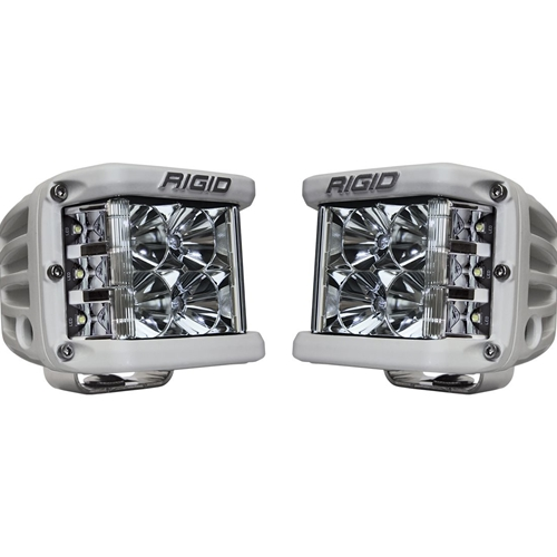 Rigid Industries Flood Surface Mount White Housing Pair D-SS Pro RIGID Industries