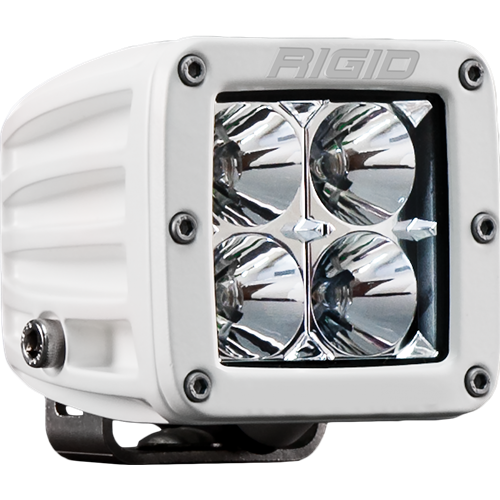 Rigid Industries Hybrid Flood Surface Mount White Housing D-Series Pro RIGID Industries