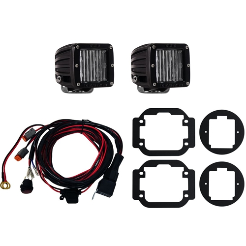 Rigid Industries Frontier Fog Light Mount Kit 09-15 Nissan Frontier Includes 2 SAE D-Series Lights RIGID Industries