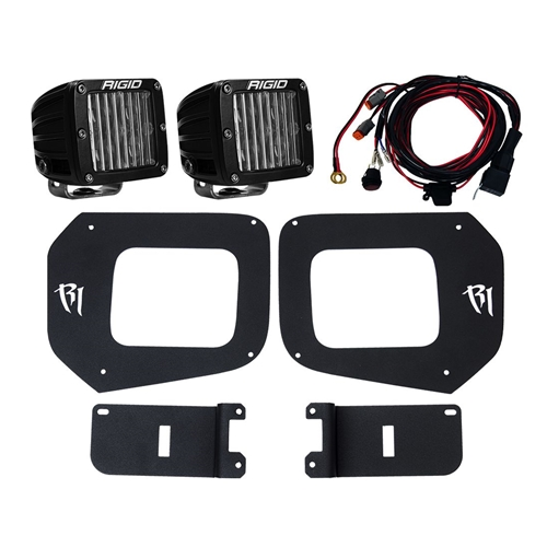 Rigid Industries 16-17 Toyota Tacoma Fog Light Mount Kit Includes 2 SAE D-Series Lights D-Series Pro RIGID Industries