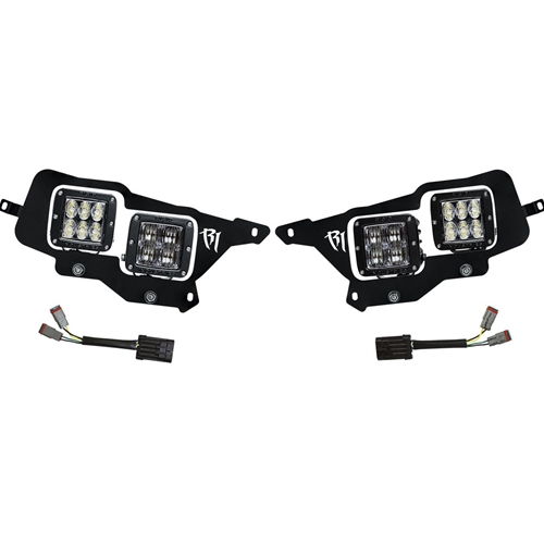 Rigid Industries 14-15 Polaris RZR XP1000 Headlight Mount Kit Inlcudes 4 D-Series Lights RIGID Industries