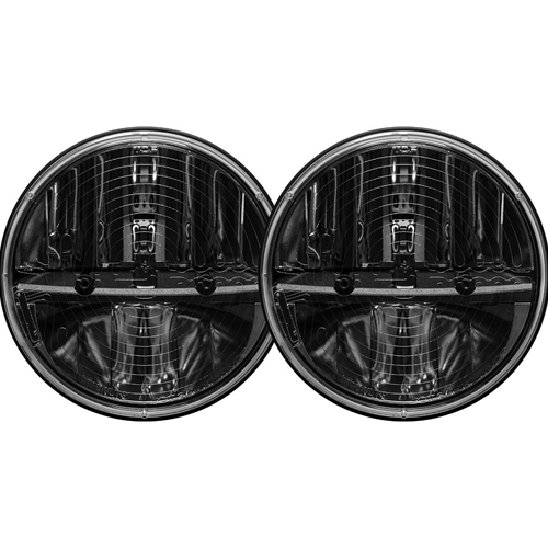 Rigid Industries 7 Inch Round Heated Headlight With H13 To H4 Adaptor Pair RIGID Industries