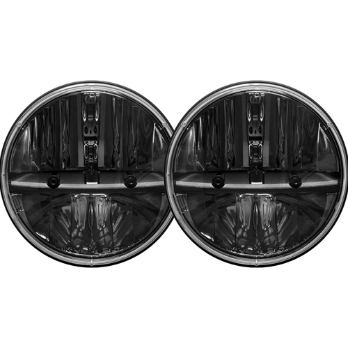 Rigid Industries 7 Inch Round Headlight With H13 To H4 Adaptor Pair RIGID Industries