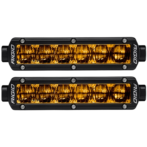 SAE J583 Compliant Selective Yellow Fog Light Pair Sr-Series Pro 6 Inch Street Legal Surface Mount Rigid Industries