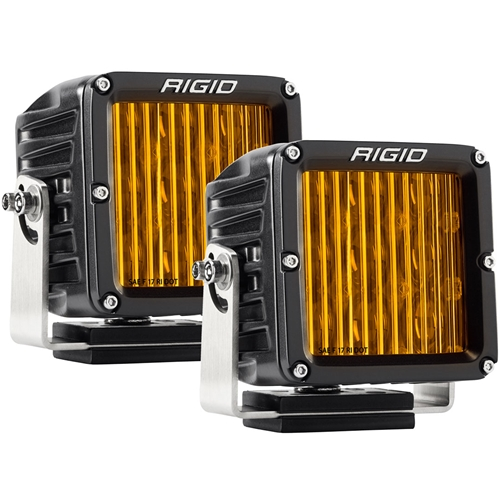 SAE J583 Compliant Selective Yellow Fog Light Pair D-XL Pro Street Legal Surface Mount Rigid Industries