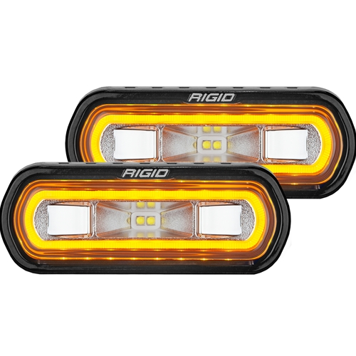 Rigid Industries SR-L Series Off-Road Spreader Pod 3 Wire Surface Mount with Amber Halo Pair RIGID Industries