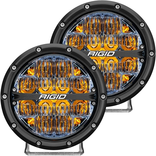 Rigid Industries 360-Series 6 Inch Led Off-Road Drive Beam Amber Backlight Pair RIGID Industries