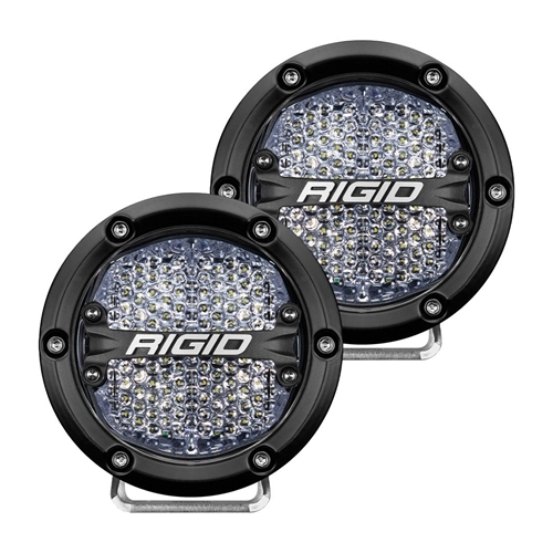 Rigid Industries 360-Series 4 Inch Led Off-Road Diffused White Backlight Pair RIGID Industries