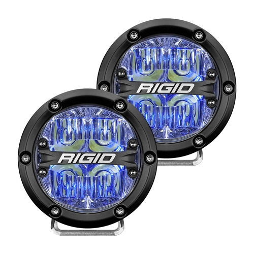 Rigid Industries 360-Series 4 Inch Led Off-Road Drive Beam Blue Backlight Pair RIGID Industries