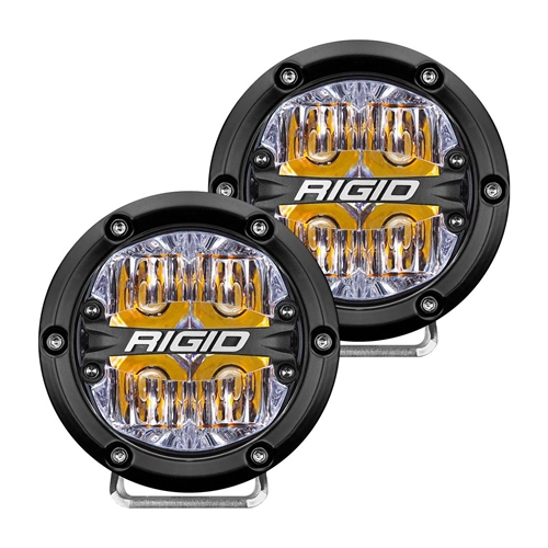Rigid Industries 360-Series 4 Inch Led Off-Road Drive Beam Amber Backlight Pair RIGID Industries
