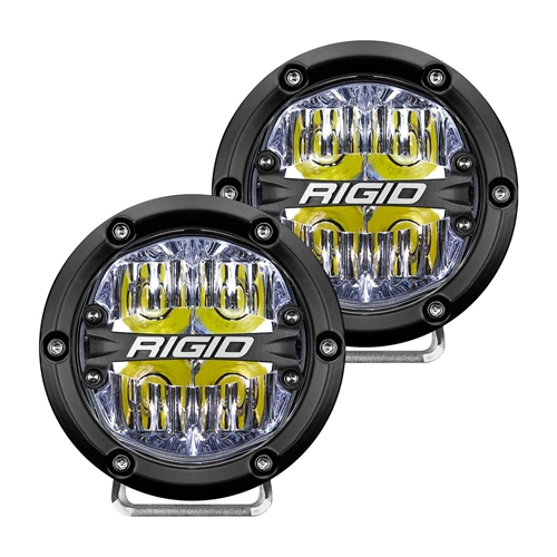 Rigid Industries 360-Series 4 Inch Led  Off-Road  Drive Beam White Backlight Pair RIGID Industries