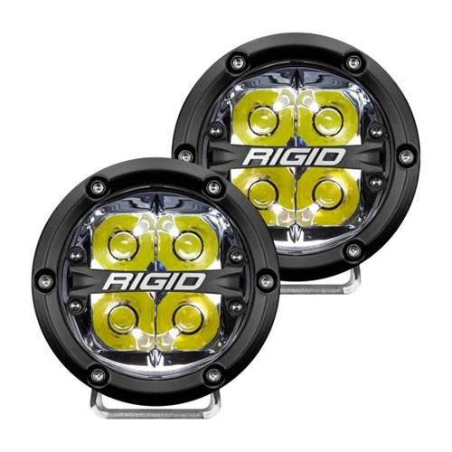 Rigid Industries 360-Series 4 Inch Led Off-Road Spot Beam White Backlight Pair RIGID Industries