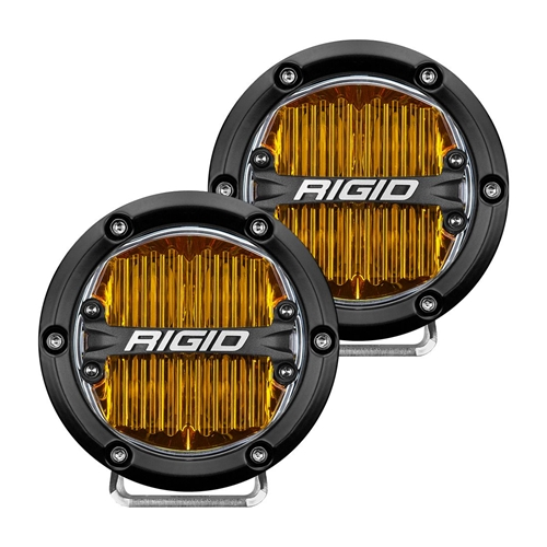Rigid Industries 360-Series 4 Inch Sae J583 Fog Light Selective Yellow Pair RIGID Industries