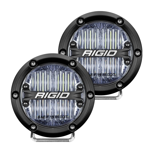 Rigid Industries 360-Series 4 Inch Sae J583 Fog Light White Pair RIGID Industries